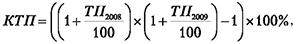 Формула кумулятивного темпа прироста реального ВВП